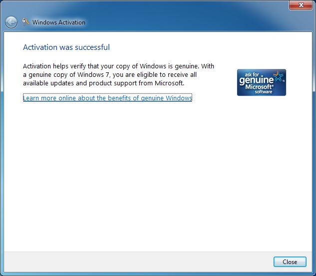 Re-Activate Windows 7